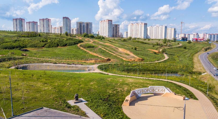 Ландшафт ЖК Суворовский - панорама.