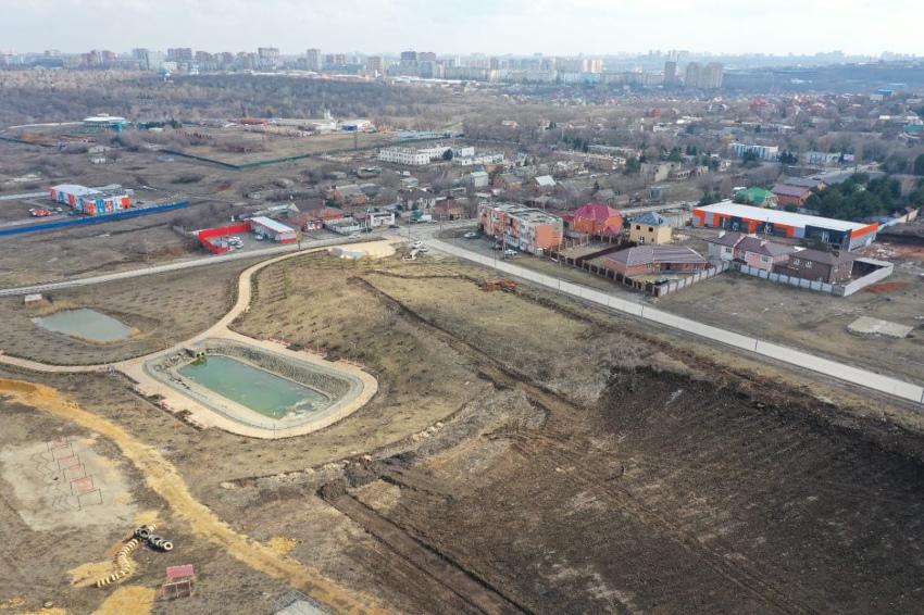 Начало строительства нового парка в ЖК Суворовский. Фото 2.
