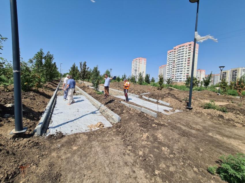 Развитие парка ЖК Суворовский летом 2021 года. Фото 2.